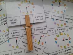 Produkt - Time - telling the time - clock - hodiny - sada Tell The Time Clock, Telling Time, Bullet Journal