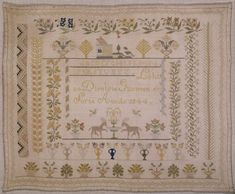 19th Century Spanish Sampler Dated 1844