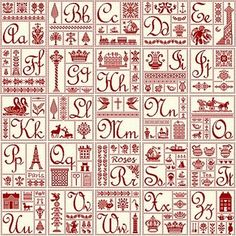 gorgeous sampler chart. i feel i must point out that she emails each letter separately and then gets pissed off when you point out that she failed to send six of the letters.