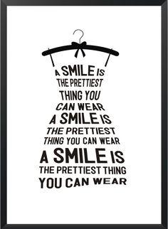 Plakat Smile - różne rozmiary NORD&CO