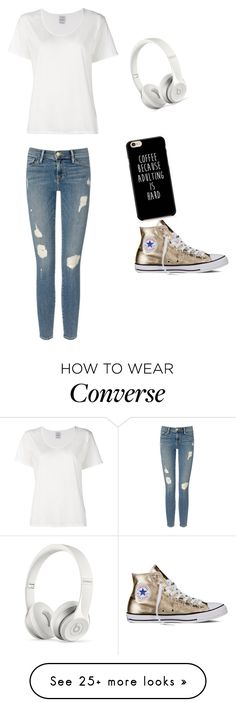 """Suggested 3"" by simoneford on Polyvore featuring Visvim, Frame Denim, Beats by Dr. Dre and Converse"