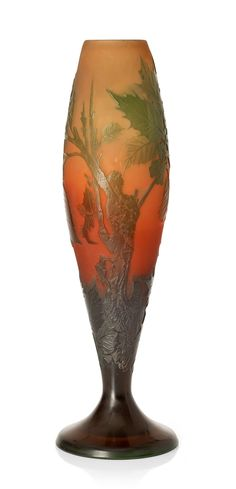 Vase - Gallé - He is a French Glassmaker - Art Nouveau Movement -