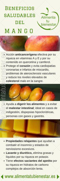 #Infografia Beneficios saludables del mango #alimentatubienestar