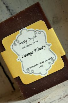 Orange Honey - Olive Oil Cold Process Soap