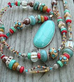 Multicolor Boho Cowgirl Western Style Necklace by BohoStyleMe