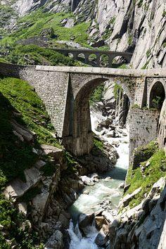 Teufelsbrücke in der Schöllenen, Schweiz