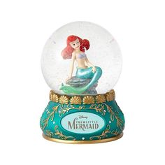 Jim Shore Disney Traditions The Little Mermaid Ariel Waterball 4059193 for sale online Enesco Figurines, Fairy Figurines, Disney Figurines, Disney Snowglobes, Musical Snow Globes, Fairy Gifts, Disney Traditions, Water Globes, Baby Fairy