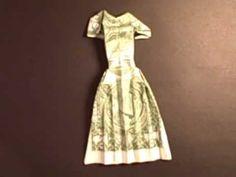 Origami dollar dress four