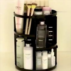 An easy and fast way to organize your cosmetics,brushes,makeup and beauty adjustable layers,simple to assemble and disassemble.Perfect gift for someone special. Diy Makeup Organizer, Make Up Organizer, Makeup Storage Organization, Make Up Storage, Bathroom Organization, Makeup Vanity Organization, Organization Ideas, Bathroom Makeup Storage, Acrylic Makeup Storage