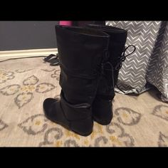 X-Appeal Black Boots Size 8 women's Originally got them for $40! Wore them once. In perfect condition. X-Appeal Shoes