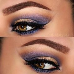 Purpe and gold