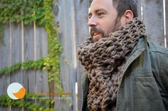 Taupe Oversized Tall Cowl  Unisex by littlebirdiedesign on Etsy, $55.00