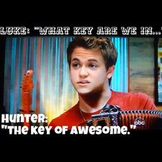 """""""We're in The Key of Awesome."""" SO reminds me of another Hunter I know... #worshipbandconvos  Lol this is great"""