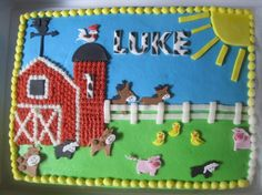 Barnyard first birthday by TheCakeFairy on Cake Central