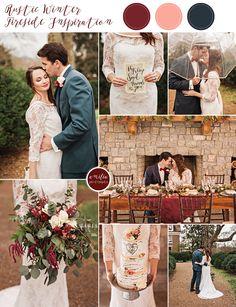 A romantic, rustic winter wedding next to Homestead Manor's inside fireplace. Birch bark cake, slate blue suit, oversized bouquet. Nashville Tennessee Wedding Photographer