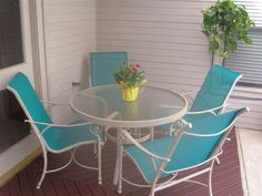 Painted Sling Patio Chairs   Google Search