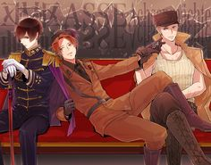 Tags: Axis Powers: Hetalia, Japan, North Italy, Germany, Axis Power Countries, Player 2, Pixiv Id 2760495