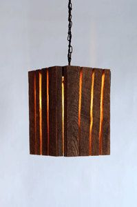 Barnwood lamp. ( good idea, less wood, better shape and add a mason jar with antique bulb.)