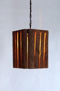 Barnwood lamp