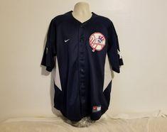 Nike MLB Genuine New York Yankees Alex Rodriguez #13 Adult Blue Sewn XL Jersey #Nike #NewYorkYankees