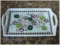 Mosaic Tray, Mosaic Tiles, Mosaic Projects, Color Tile, Mosaic Patterns, Stained Glass Art, Creations, Arts And Crafts, Painting Art
