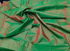 Dark Olive Green Mulberry Silk Fabric/Iridescent/100% Pure Silk Fabric, Plain Silk Fabric made with handloom, Fabric by the yard, by TheSLVSilks on Etsy Dupioni Silk Fabric, Raw Silk Fabric, Green Fabric, How To Dye Fabric, Cool Fabric, Scarf Curtains, Natural Protein, Silk Bedding, Green Silk