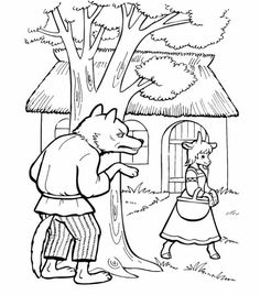 Rainy Day Activities, Preschool Activities, Coloring For Kids, Coloring Pages, Childrens Cupcakes, Wolf, School Resources, Conte, Drawing For Kids