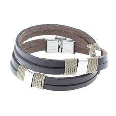 "genuine Leather Wrap-Around Bracelet (Retail Price $29.99) ""Our Price $6.00"" only at nomorerack.com"
