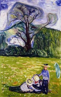 Edvard Munch- Spring in Dr. Linde's Garden, 1903.
