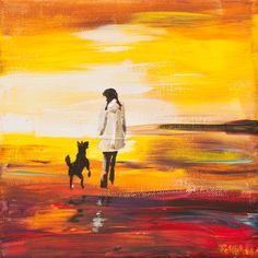 "Saatchi Art Artist Anna Felföldi; Painting, ""October walk"" #art"