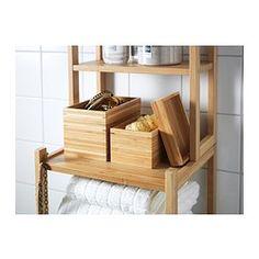 IKEA - DRAGAN, Badeværelsessæt, 2 dele,  , , Gør det nemt at holde orden i vat, hårclips osv.Bambus er et slidstærkt naturmateriale.