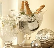 champagne and party bucket, glass blown New Year's Eve Celebrations, New Year Celebration, Bottle Sparklers, New Years Eve Decorations, Gold Decorations, Champagne Bottles, Champagne Buckets, Champagne Party, Champagne Cooler