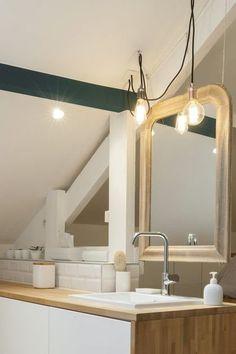 Bathroom open to the bedroom: top parental suites - Modern Simple House, Bathroom, Bathrooms Remodel, Bathroom Decor, Master Bedroom Bathroom, Framed Bathroom Mirror, Kitchen Renovation, Home Decor Mirrors, Bathroom Mirror