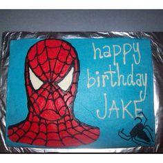 Spiderman cake (batman cupcake ideas)