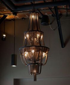 Bicycle Parts Turned Into A Chandelier