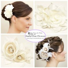 Bridal Hair Flowers by Hair Comes the Bride