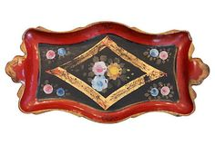 Hand Painted Japanese Papier Mache Tray $199.00