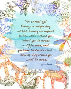 Jane Goodall Quote  Art Print by LeslieSabella on Etsy, $20.00