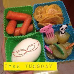 #tyketuesday   Carrots  Plantain chips  Hardboiled egg Pickles #paleo #kidapproved #jerf #lunchtime #keepitpaleo #kidlunch #schooldays #farmfresh #hashtagpaleo K