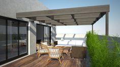 3D visualization of sun terrace with output from livingroom ...  http://visualization-3d.com