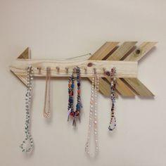 Rustic Wooden Arrow Jewelry HangerRustic by CloverHollowWoodshed