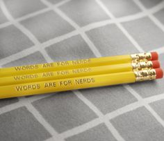 nerd pencils