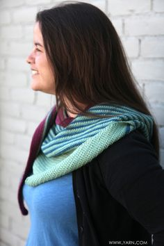 Crocheted Color Affection shawl crocheted by Grace H. in Fibre Company Canopy yarn. Grace finished this shawl in just over a week. #crochetpatterns   Oooooo