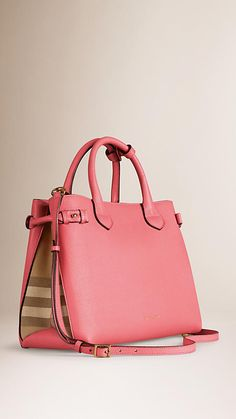 Mauve pink The Medium Banner in Leather and House Check - Image 1 Mk  Handbags f39e075317cc3
