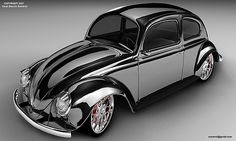 Sophisticated Bug...In Tuxedo Black, Grey and Chrome Attire.