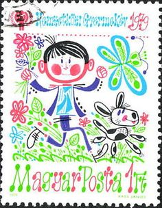 'Playing in the Fields' International Year of the Child [Hungary] 1979