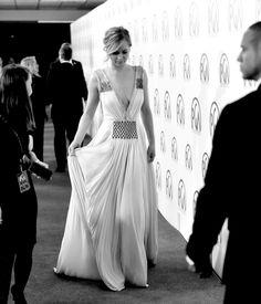 Jennifer Lawrence Prada dress 2015 Producers Guild of America Awards