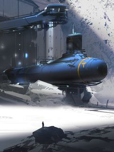 Artic Submarine by Sparth