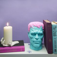 Yes it Frankenstein but it's got pink hair! We love a little bit of horror and spookiness, this bookend would be a lovely little touch to add #aplacecalledhome