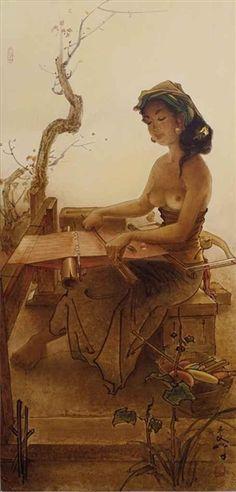 WANITA BALI MENENUN, artist Cheng Shui (b1981, Bogor, West Java, Indonesia)